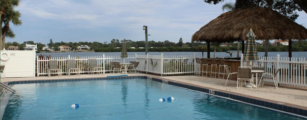 Heated Pool and Tiki Hut